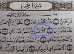 Kako se čita početak petog ajeta sure Rahman?